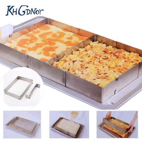 Stainless Steel Large Square Adjustable Cake Baking Mold-Chef Edition-Innodie-Innodie