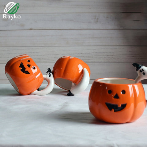 Youth Edition - Cute Halloween Pumpkin Coffee Mug-Innodie-Innodie