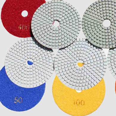 146510 Diamond Polishing Pads 100mm No 30 to 10000