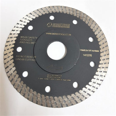 141276 Professional Diamond Thin Cutting Blade Hot Pressed W/F 115mm