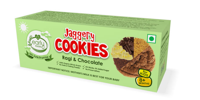 Early Foods - Organic Ragi and Choco Jaggery Cookies 150g