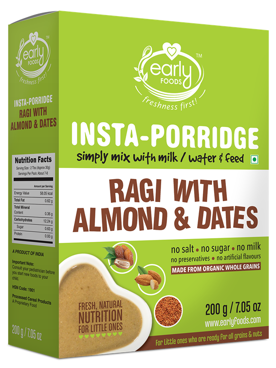 Instant Ragi Almond & Date Porridge Mix 200g