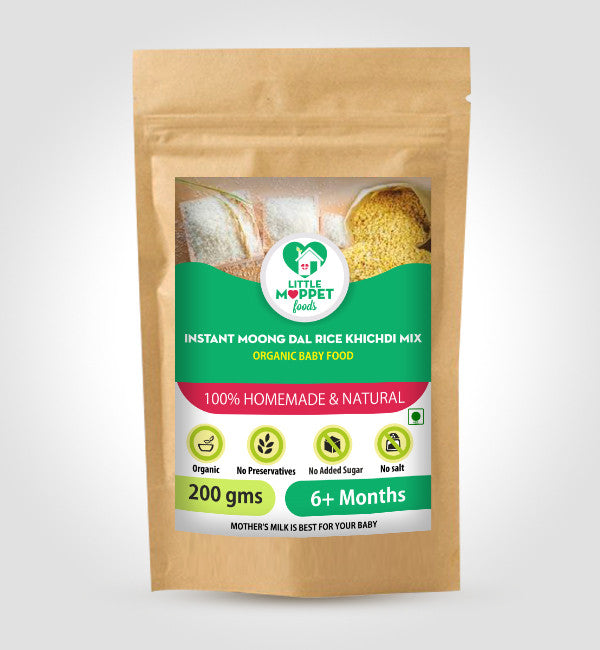 Little Moppet Foods Instant Rice Khichdi Powder Moongdal (200 gm)