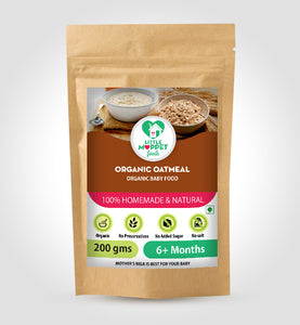 Little Moppet Foods Organic Oats (200 gm)