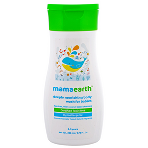 Mamaearth Deeply Nourishing Body Wash for babies (0-5 Yrs) - 200ml