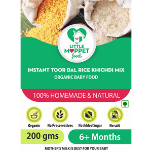 Little Moppet Foods Instant Toor Dal Rice Khichdi Mix (200gm)