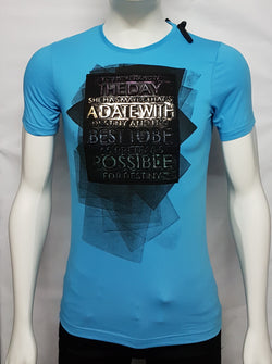Firozi Blue Trendy Tees