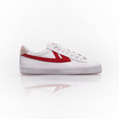 Dime leather White Red