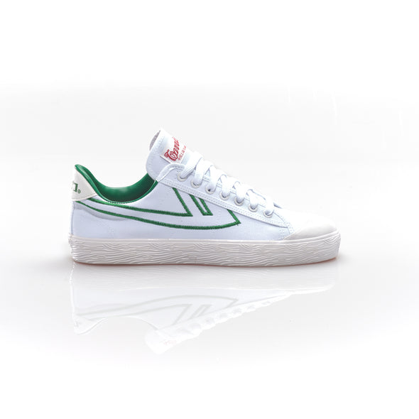 WB-1 White Green Embroidery
