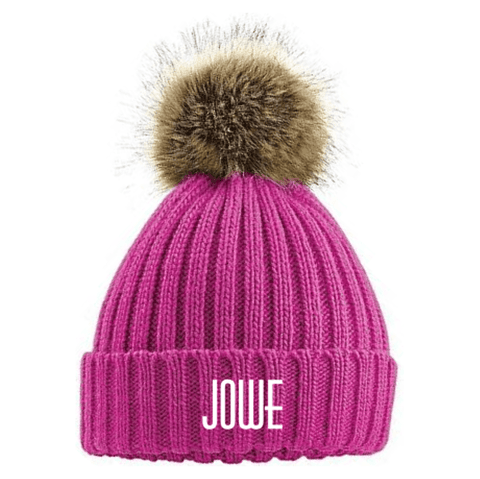Jowe Bobble Hat-Clothing-Jowe-Pink-SwimPath
