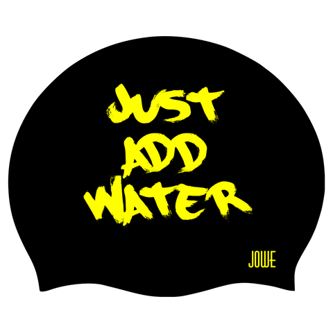 Jowe Suede Swimming Cap Just Add Water - Black Yellow