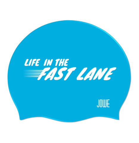 Jowe Suede Swimming Cap Life in the Fast Lane - Sky Blue