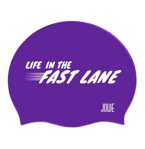 Jowe Suede Swimming Cap Life in the Fast Lane - Violet
