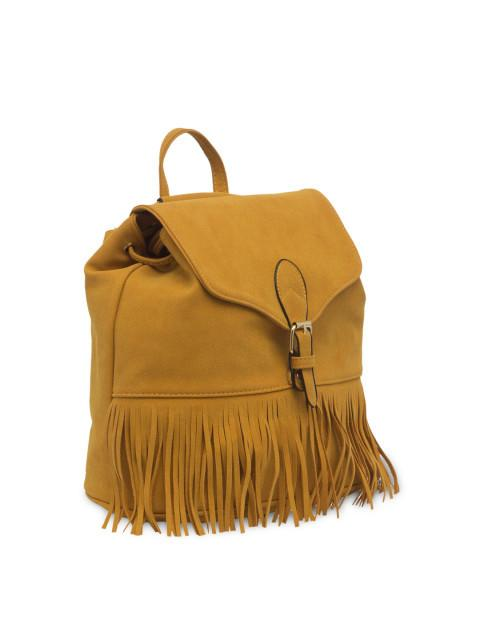 Hiveaxon Tan Brown Fringe Backpack