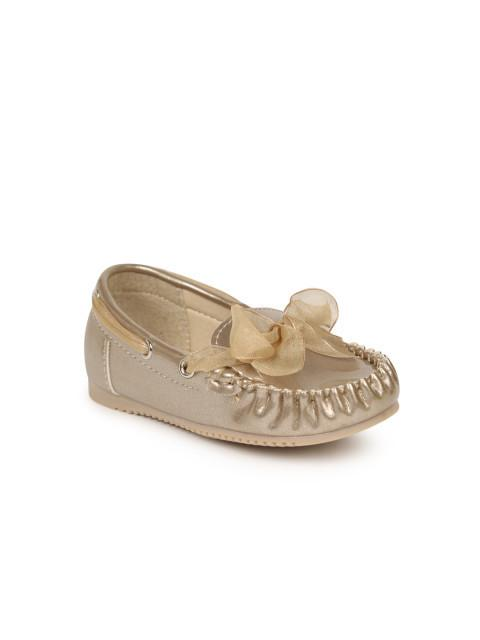 Dunsinky Gold-Toned Solid Boat Shoes
