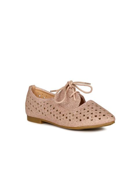Dunsinky Rose Gold-Toned Cut-Out Casual Shoes
