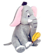 Dintanno Grey Elephant With Banana