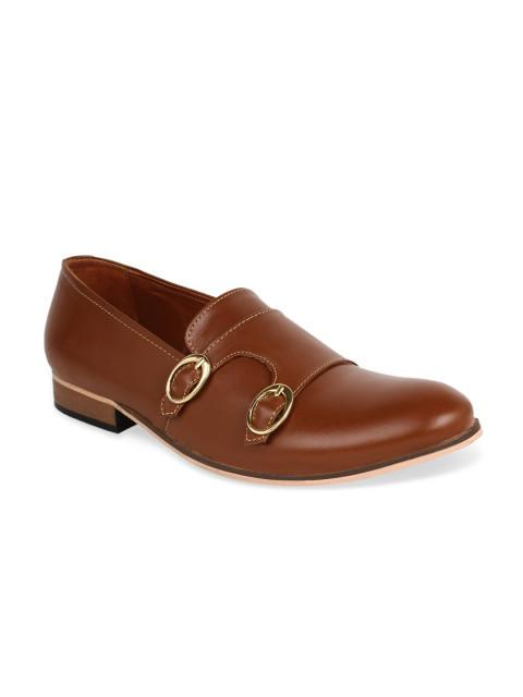 Fastalas Tan Brown Leather Formal Shoes