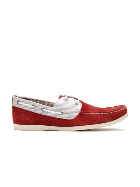 Fastalas Maroon Suede Boat Shoes