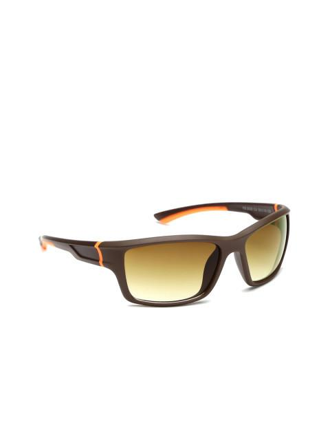 Kingawns Brown Rectangle Sunglasses