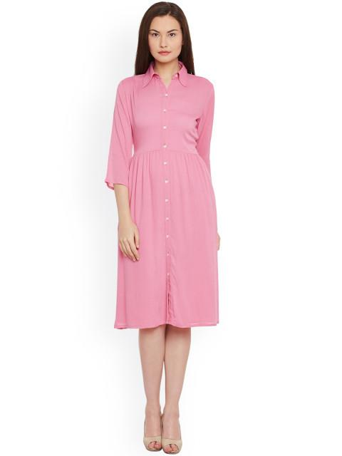 Rosyalps Pink Shirt Dress