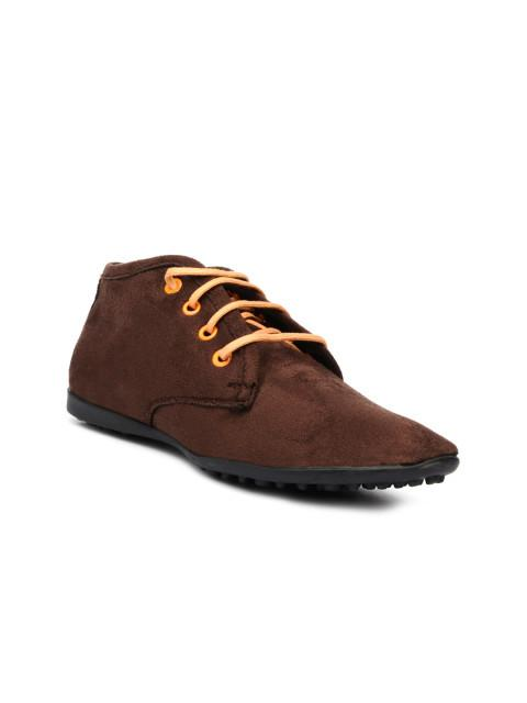 Scamanus Brown Suede Casual Shoes