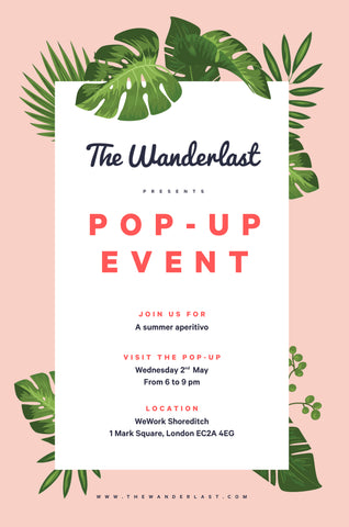 Shoreditch London WeWork swimwear event pop-up store summer aperitivo may fashion clothes