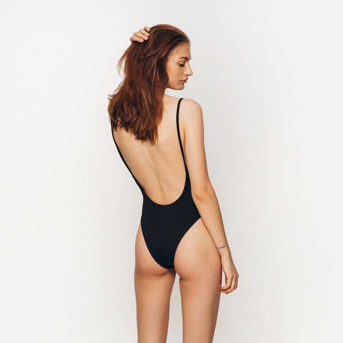The Wanderlast Cantik swimwear byron one piece swimsuit bodysuit black back