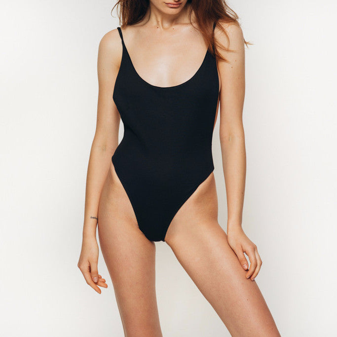 The Wanderlast Cantik swimwear byron one piece swimsuit bodysuit black detail