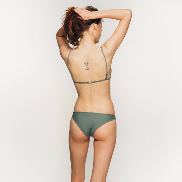 The Wanderlast Cantik swimwear beduin bikini bottom khaki green army