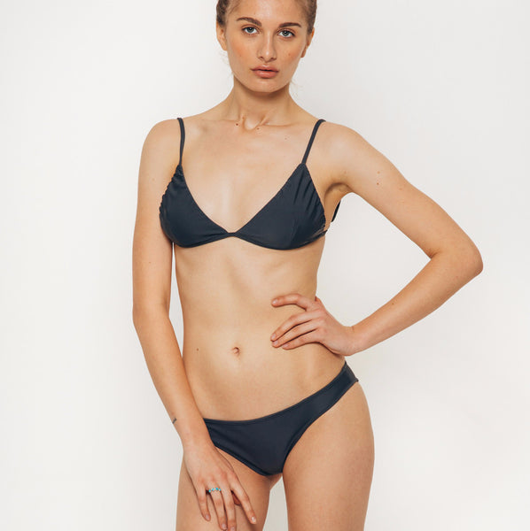 The Wanderlast Cantik swimwear beduin bikini bottom slate grey full front
