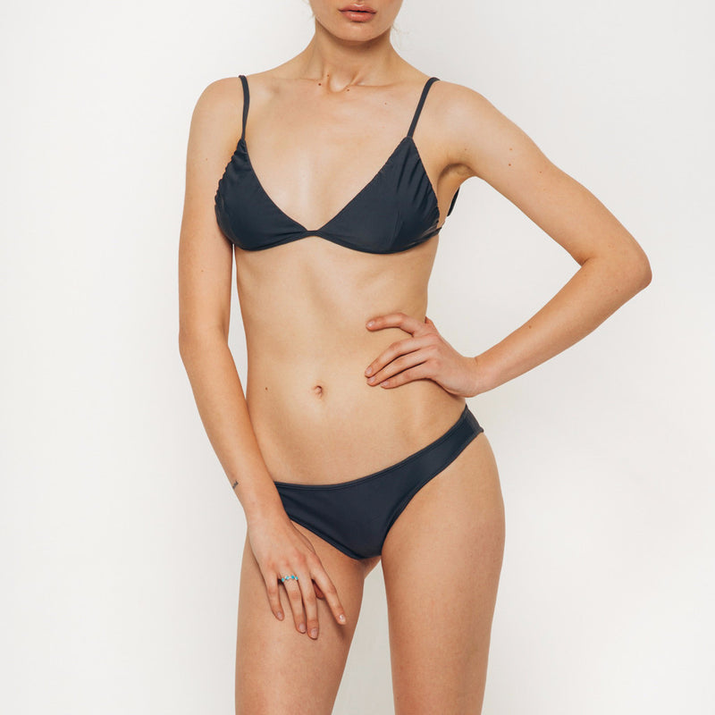 The Wanderlast Cantik swimwear beduin bikini bottom slate grey front