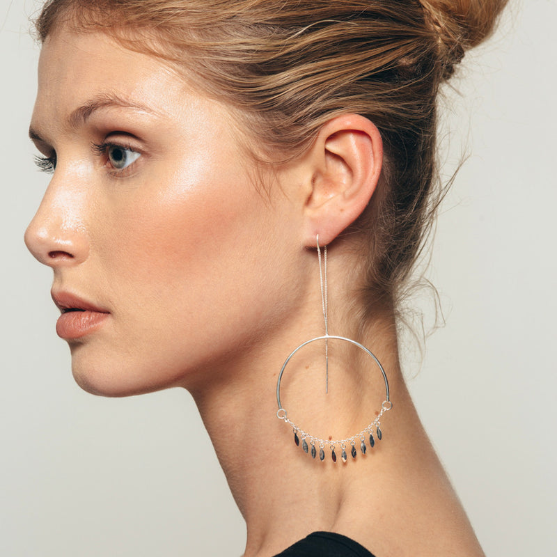 Marina hoops earrings in silver