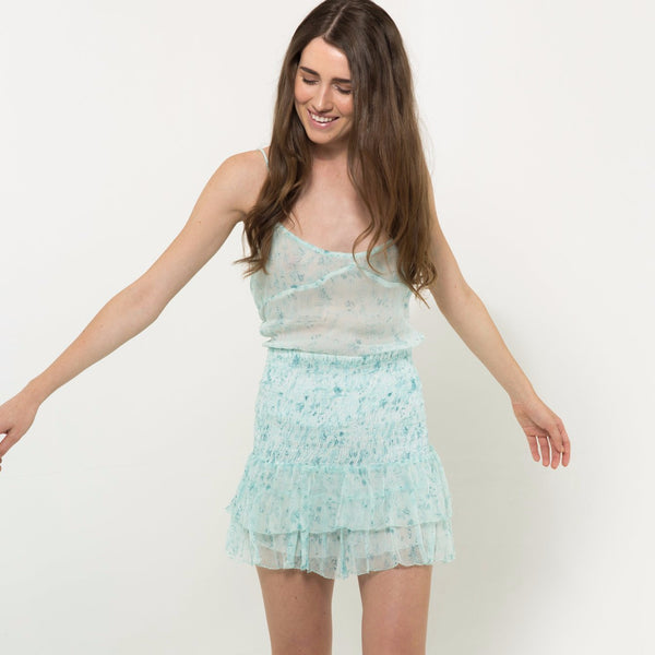 Chiffon camisole in light blue