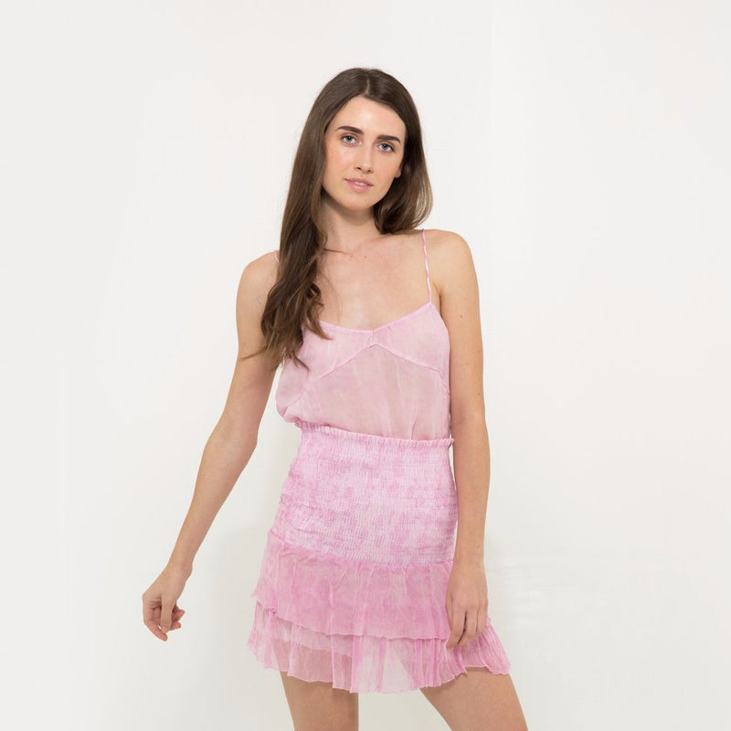 Chiffon camisole in pink