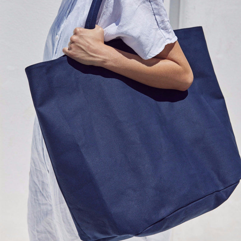 Navy cotton canvas bag