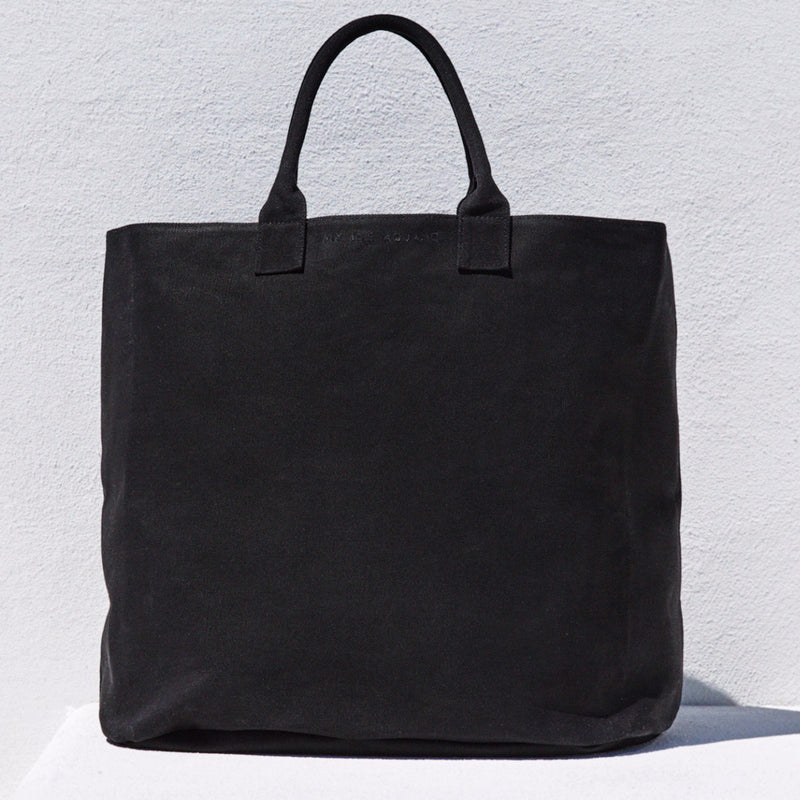 Black cotton canvas bag