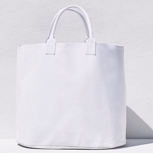 White cotton canvas bag