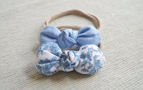 Linen Blue Floral Collection