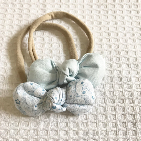 Ice blue bow