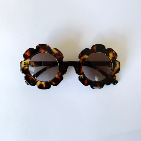 Flower sunglasses leopard