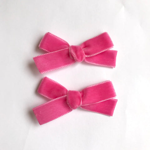 Small barbie velvet bow