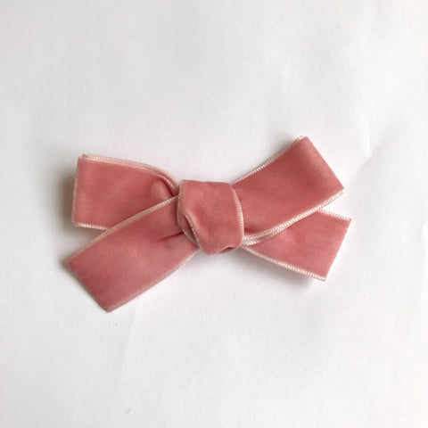 Large dusty pink velvet bow