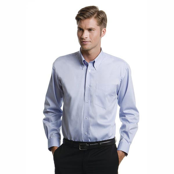 Kustom Kit Mens Long Sleeve Corporate Oxford Shirt x10 Units