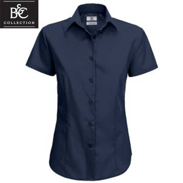 B&C Ladies Smart Short Sleeved Shirt x10