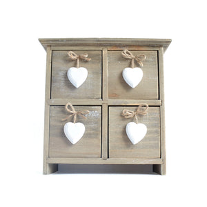 Driftwood Hearts Desk Drawers