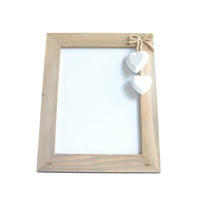 Driftwood Hearts Photo Frame
