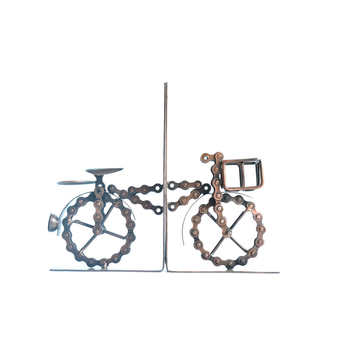 Recycled Bike Chain Bookends