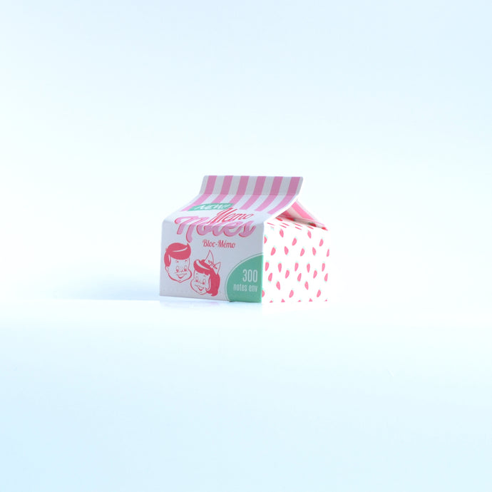 Retro Milk Carton Sticky Notes