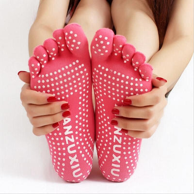Yoga Non Slip Five Finger Toe Socks